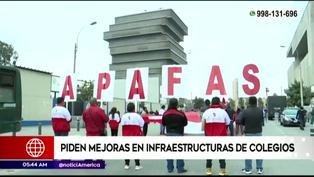 San Borja: Padres de familia piden mejoras en infraestructura de colegios