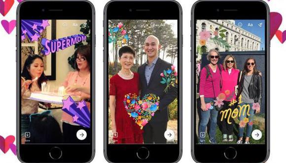 Una imagen vale más que mil palabras, dice Facebook Messenger para poner en contexto la importancia de sus efectos para fotos por el Día de la Madre. (Foto: Facebook)