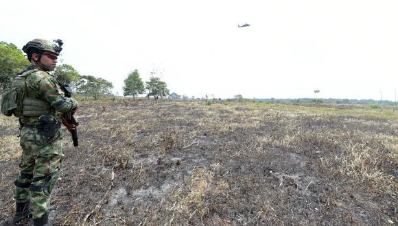 El Ejército en el municipio de La Macarena hizo operativos para capturar a los deforestadores en 2020. Foto: Ministerio de Ambiente.