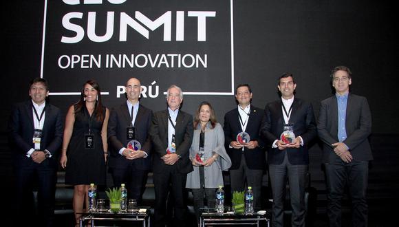 Los CEOs remarcaron la importancia de trabajar de la mano las Fintechs para acercar los servicios financieros a más peruanos (Foto: Telefónica)