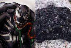 Espeluznante 'Simbionte Venom' es hallado en la calle, causa pánico y es viral en redes