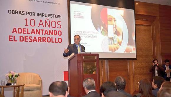 Ya se han ejecutado proyectos vía obras por impuestos por 220 millones de soles en lo que va del 2018, indicó el ministro Oliva. (Foto: MEF)