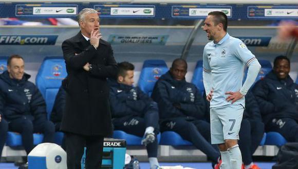 Deschamps no descarta regreso de Ribéry a Francia para Eurocopa