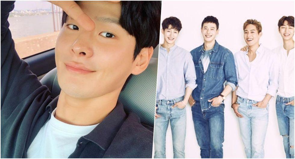 Izq.: Cha In Ha, actor coreano que fue encontrado muerto en su departamento. Der., con camisa jean: en sus épocas como miembro de SURPRISE U, agrupación de K-Pop. Fotos: Difusión.