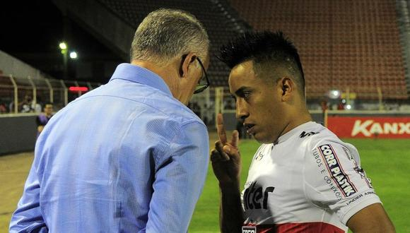 Christian Cueva dejó de ser el villano de Sao Paulo para convertirse en el héroe. Depende del peruano la continuidad del estratega Dorival Junior. ¿Qué es lo que tiene que hacer? (Foto: Globoesporte)
