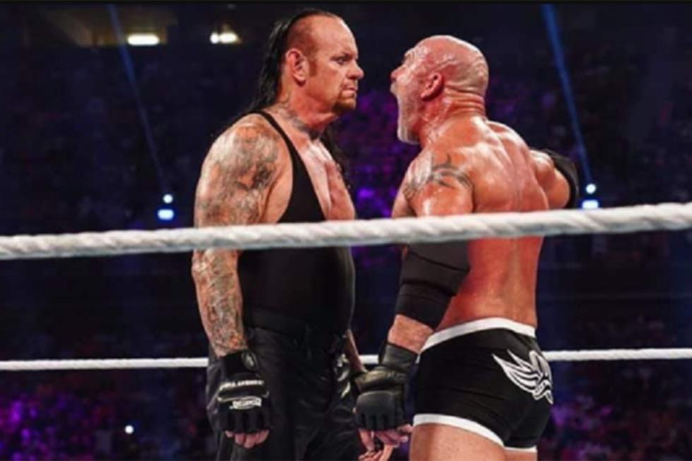 La pelea entre The Undertaker y Goldberg en junio de 2019 puso en riesgo la vida de ambos luchadores.   Foto: WWE