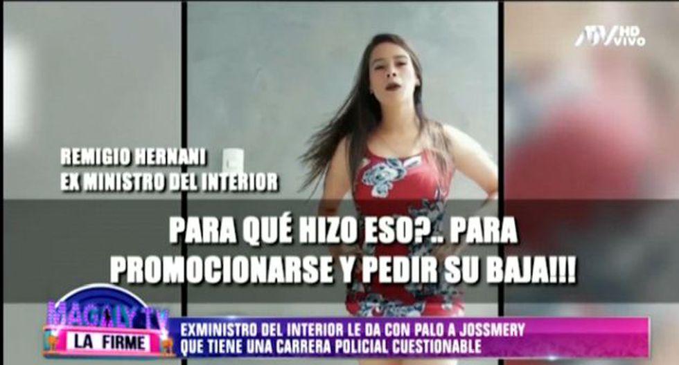 Remigio Hernani comentó sobre la suboficial que se hizo conocida en las redes sociales gracias a video de Tik Tok.   (Foto: Captura de pantalla)
