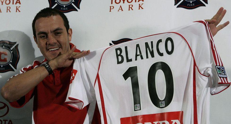 Cuauhtémoc Blanco. La ex estrella de México disputó tres temporadas con el Chicago Fire (2007, 2008 y 2009), donde marcó 17 tantos en 65 partidos. Sin embargo, no ganó el título de Liga.