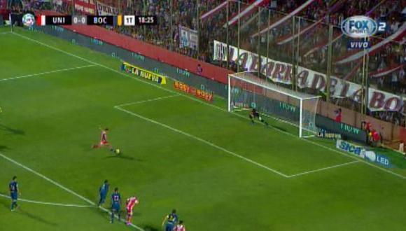 Boca Juniors vs. Unión: Franco Fragapane y el 1-0 con un potente remate desde el punto penal   Foto: Captura