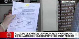 Coronavirus en Perú: Alcalde de San Luis denuncia a proveedora de víveres por subir precios
