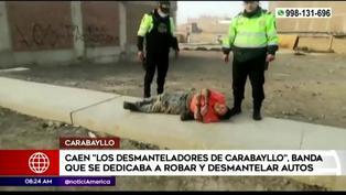 "Policía Nacional captura a banda ""Los desmanteladores de Carabayllo"""