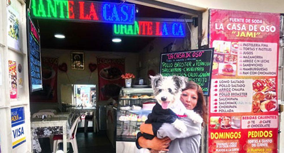 Jackie Fernández asegura que Oso es y será su único hijo. Aquí frente a su restaurante ubicado en el distrito de San Martín de Porres. (Foto: Cortesía Julissa Fernández)