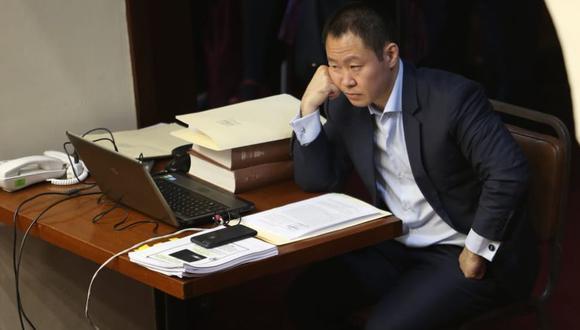 El congresista Kenji Fujimori asistió al debate en el pleno del Congreso donde se decidió su sanción por las conversaciones grabadas por Moisés Mamani. (Juan Ponce / El Comercio)