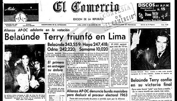 Así ocurrió: En 1963 Fernando Belaúnde es elegido Presidente