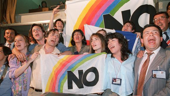 La exitosa campaña del NO terminó con la dictadura pinochetista en el referéndum de 1988. [AFP]