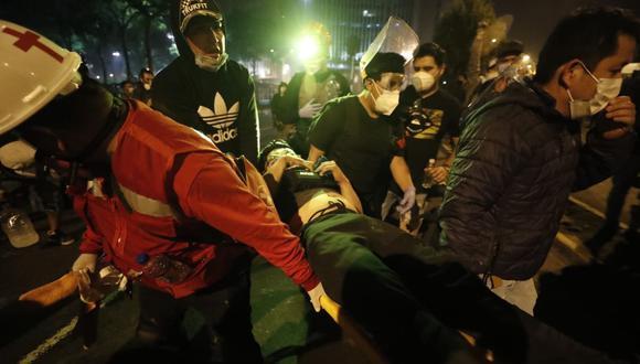 Periodista de Televisa fue herido durante los enfrentamientos entre la policía y manifestantes. (Fotos: César Campos / @photo.gec)