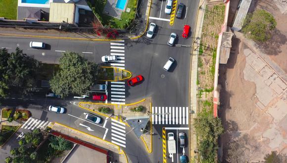 Municipalidad de Lima terminó los trabajos de mejoramiento en un tramo de la Av. Circunvalación del Golf y facilitó el tránsito de automóviles. (Foto: Municipalidad de Lima)