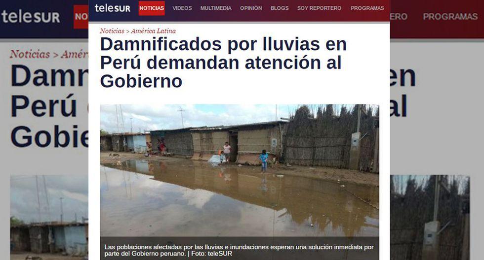 Así informa la prensa mundial sobre las lluvias en el Perú - 11