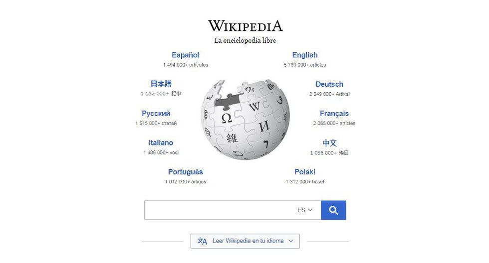 Wikipedia y Google entablan una alianza para integrar el sistema de traducción a los artículos de la enciclopedia virtual. (Foto: Wikipedia)