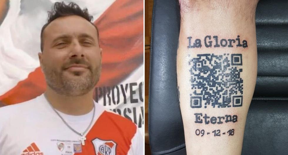 Fabio Tucznio es, quizás, el hincha más grande del cuadro 'Millonario' y lleva tatuado en la piel uno de los triunfos más grandes del club de sus amores. (Foto: ESPN.com.ar/@FTucznio en Twitter)