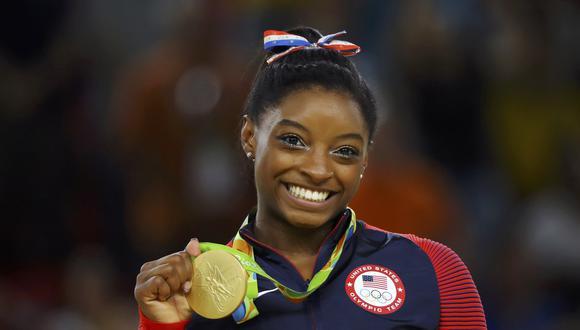 Simone Biles ganó el oro en los Juegos Olímpicos Río 2016 y cuatro veces campeona del mundo. (Foto: AFP)