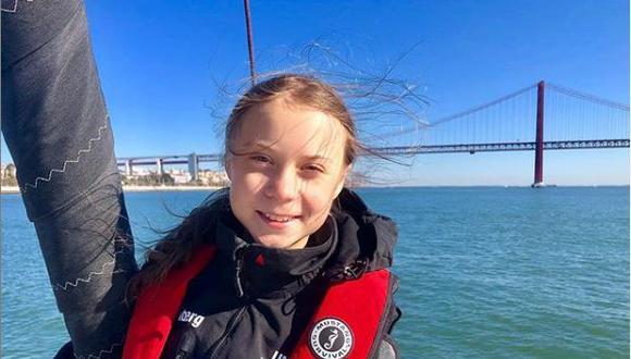 Greta Thunberg viajó tres semanas en catamarán desde Estados Unidos a Europa para asistir a la COP25 en Madrid. (Instagram de Greta Thunberg).