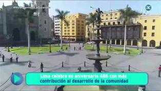 Lima celebra su aniversario 486 con más de 80 actividades virtuales y presenciales