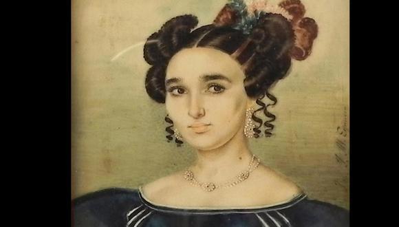 Manuela Sáenz ha pasado a la historia por su relación con Simón Bolívar y por haberse vestido de hombre. Se olvida que, sobre todo, cumplió un papel importante en el proceso independentista del Perú, incluso antes de conocer a Bolívar. Retrato de Manuelita Sáenz de la History Art Collection de Alamy Photo.
