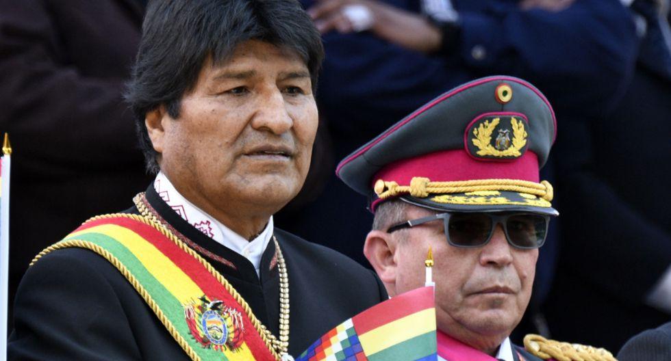 """Quién es Williams Kaliman, el comandante en jefe de las Fuerzas Armadas de Bolivia y """"hermano"""" de Evo Morales que fue determinante en su renuncia. Foto: AFP"""