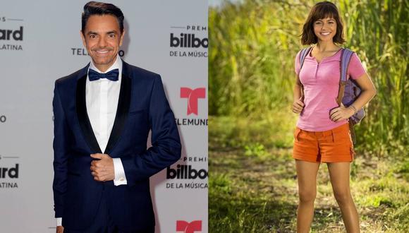 """Eugenio Derbez e Isabela Moner comparten roles en """"Dora, la exploradora"""". (Foto: Agencia / Instagram)"""