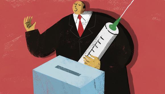 11 de los 18 partidos políticos que postulan en estas elecciones con fórmulas presidenciales contemplan en su plan de gobierno la vacunación contra el COVID-19. (Ilustración: El Comercio)