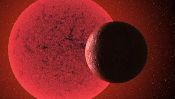 Recreación artística de la supertierra orbitando alrededor de la enana roja GJ 740. (GABRIEL PÉREZ DÍAZ, SMM/IAC)