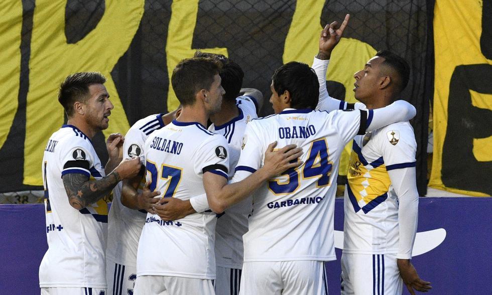 Boca Juniors y The Strongest se enfrentaron en La Paz | Foto: EFE