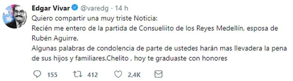 Edgar Vivar en Twitter.