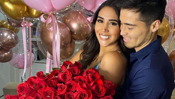Melissa Paredes junto a su esposo Rodrigo 'Gato' Cuba. (Foto: @melissaparedes).