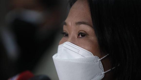 Conferencia de prensa de la candidata Keiko Fujimori. (Foto: Hugo Pérez / @photo.gec)
