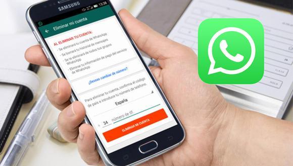 ¿Quieres eliminar tu cuenta de por vida? Entonces estos son los pasos de WhatsApp que debes hacer. (Foto: WhatsApp)
