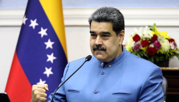 El presidente de Venezuela, Nicolás Maduro, anunció que esta semana llegan las vacunas del sistema Covax. (ZURIMAR CAMPOS / VENEZUELAN PRESIDENCY / AFP).