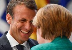 "Emmanuel Macron recibe a Angela Merkel para consolidar ""arco progresista"""