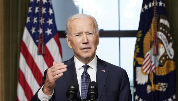 El presidente de Estados Unidos, Joe Biden, habla en el Rose Garden de la Casa Blanca en Washington, DC. (Foto: AFP)