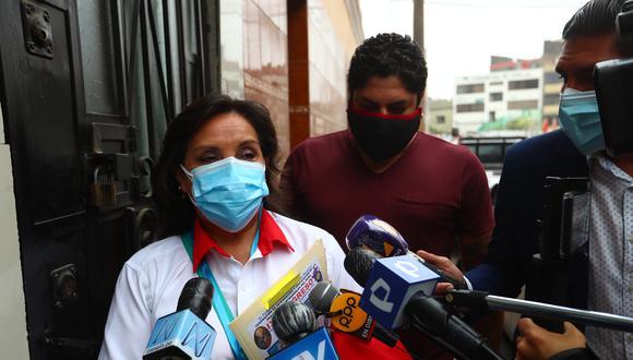 """Dina Boluarte dijo que la difusión de la entrega de dinero a favor del secretario general del partido Perú Libre, es """"malintencionada"""". (Foto: Archivo GEC)"""