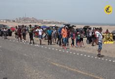 Marcona y su caluroso recibimiento al Dakar 2019.