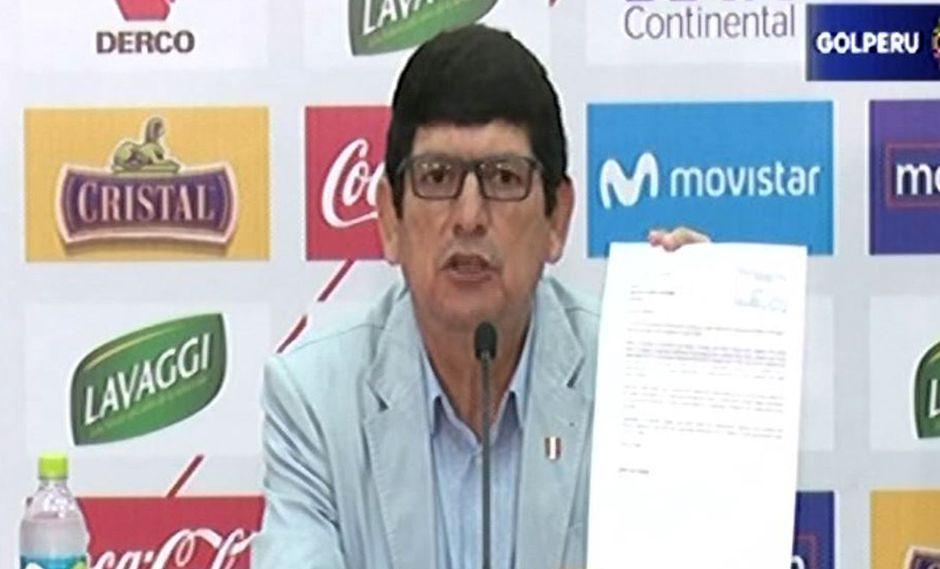 Agustín Lozano aseguró que carta de la Conmebol, que le notificada sobre la investigación del presunto caso de reventa de entradas en la FPF, no llegó a su poder, sino hasta hace pocos días. (Video: Gol Perú)