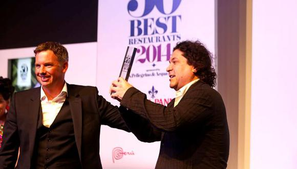 Gastón Acurio fue premiado en gala a Mejores 50 Restaurantes