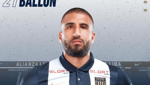 Ballón volvió a ser el capitán del equipo blanquiazul. (Foto: Alianza Lima)