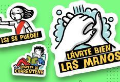 Coronavirus en Perú: descarga los stickers de El Comercio y genera conciencia entre tus amigos