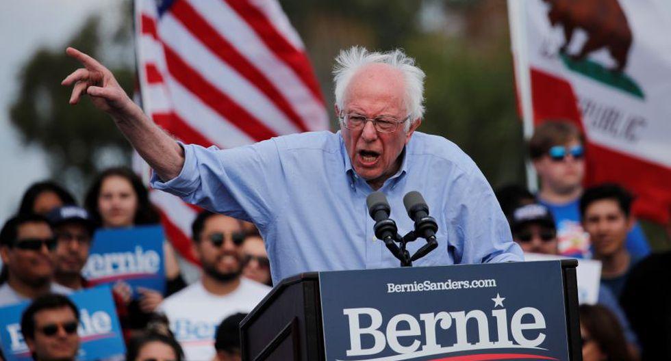 El candidato demócrata a la presidencia de los Estados Unidos, el senador Bernie Sanders, durante un mitin de la campaña Get Out the Early Vote en Santa Ana, California. (Foto: EFE).