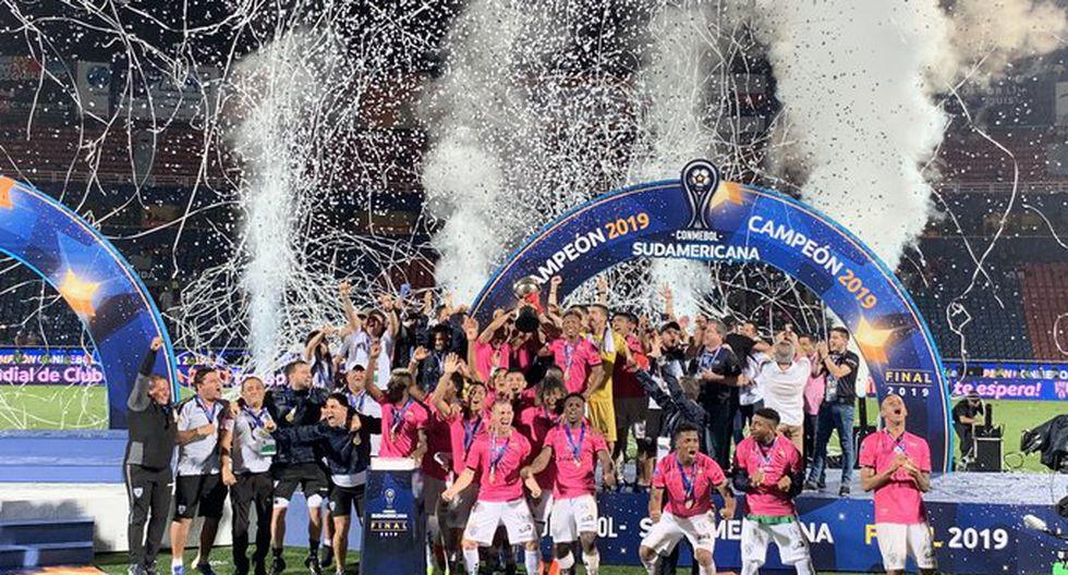 Independiente del Valle logra su primer título internacional en su historia. (Foto: IDV)