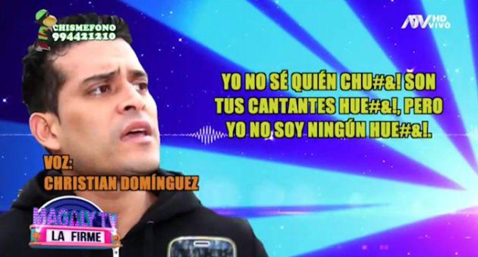 Christian Domínguez amenazó a salseros que hablaron de su beso con Pamela Franco. (Imagen: ATV)