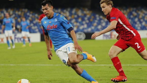 Hirving Lozano jugó 58 minutos en el triunfo de Napoli por 2-1 sobre Benevento | Foto: REUTERS